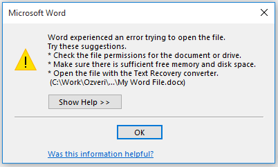Error While Opening Office Documents (Word/Excel/PowerPoint) After Upgrading to Windows 10