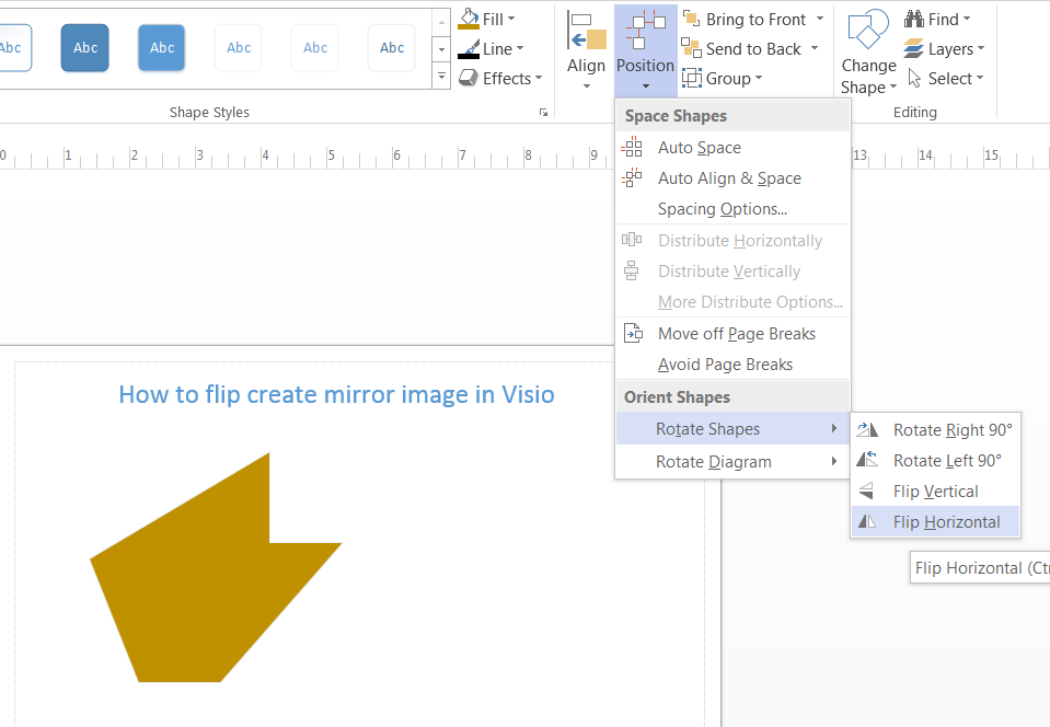How to Create Mirror Image of a Shape in Visio