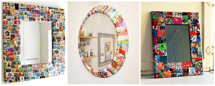 Easy & Simple DIY ideas for Mirror Frame Decorations - DIY
