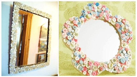 easy simple diy ideas for mirror frame decorations diy - Decorate Mirror Frame