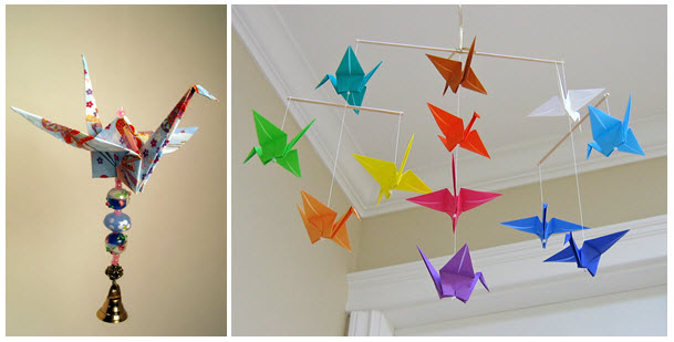 Add True Enchanting Accent To Your Decor With Origami Wind Chimes The Crane Chime Is A Marvellous Piece And Best Gift For Loved One