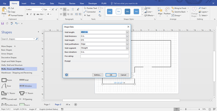 How to draw Floor Plan using Microsoft Visio