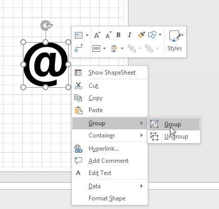 Visio Image to shape
