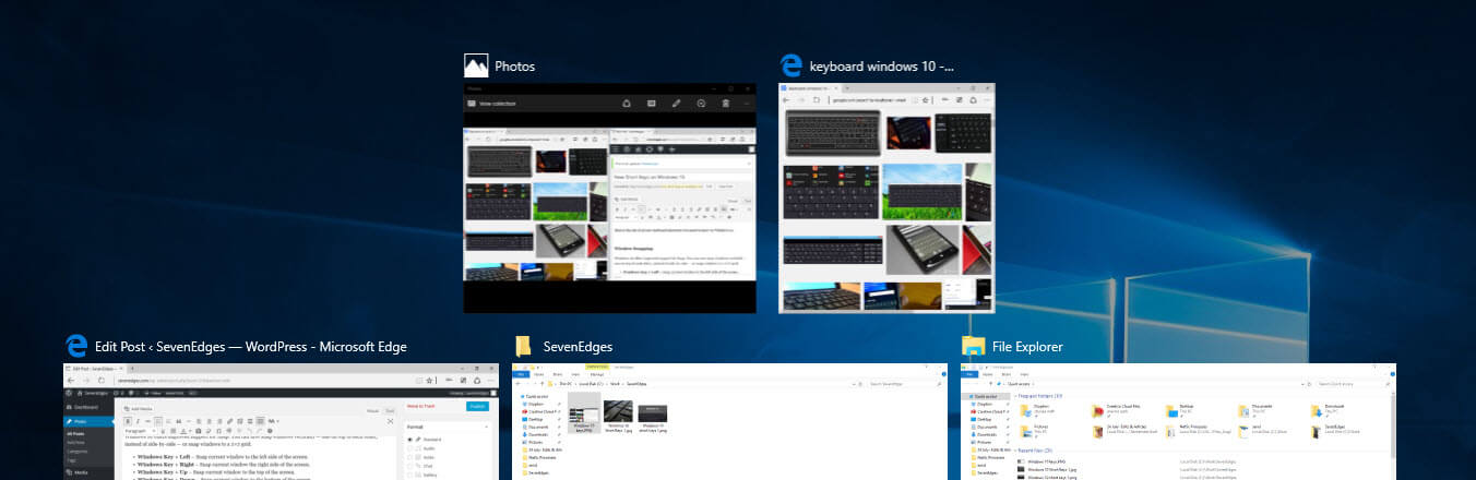 New Shortcut Keys on Windows 10
