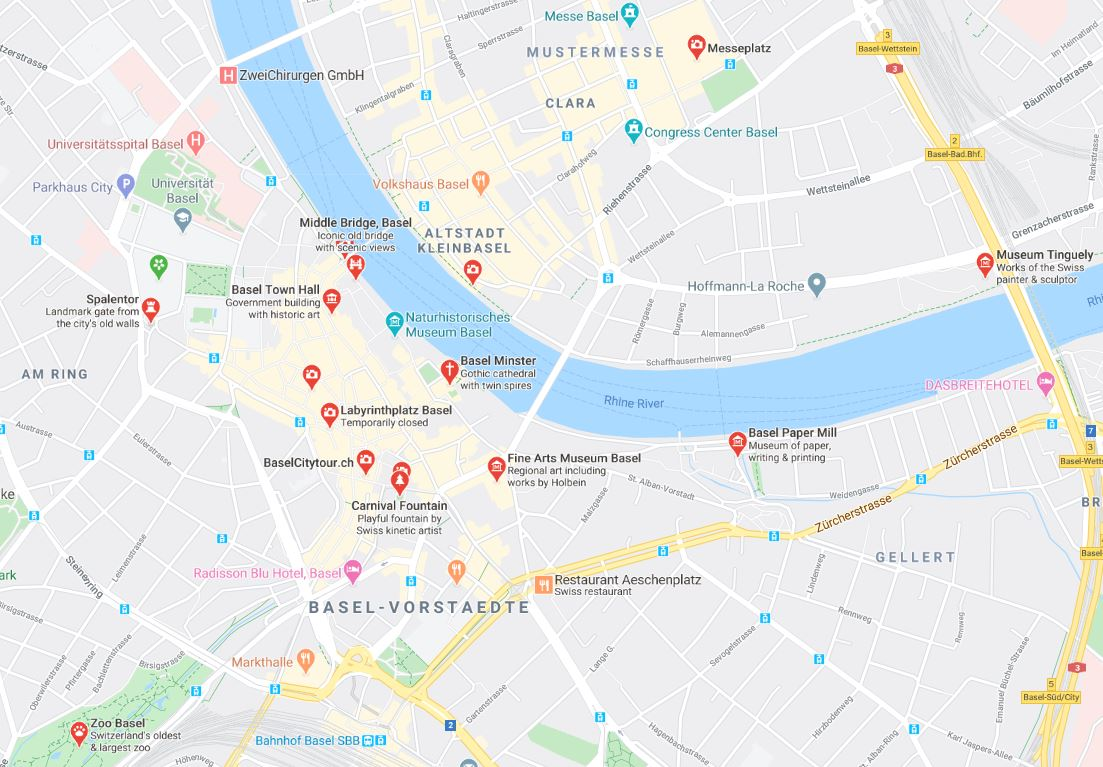 Places to visit in Basel Switzerland