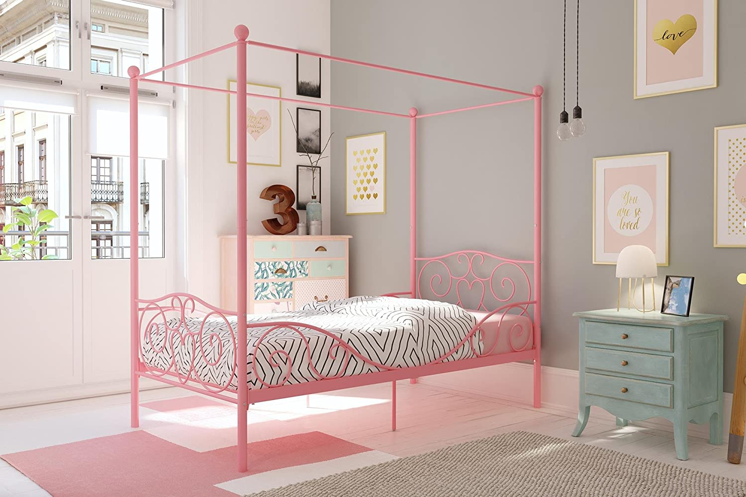 Pink Canopy Bed