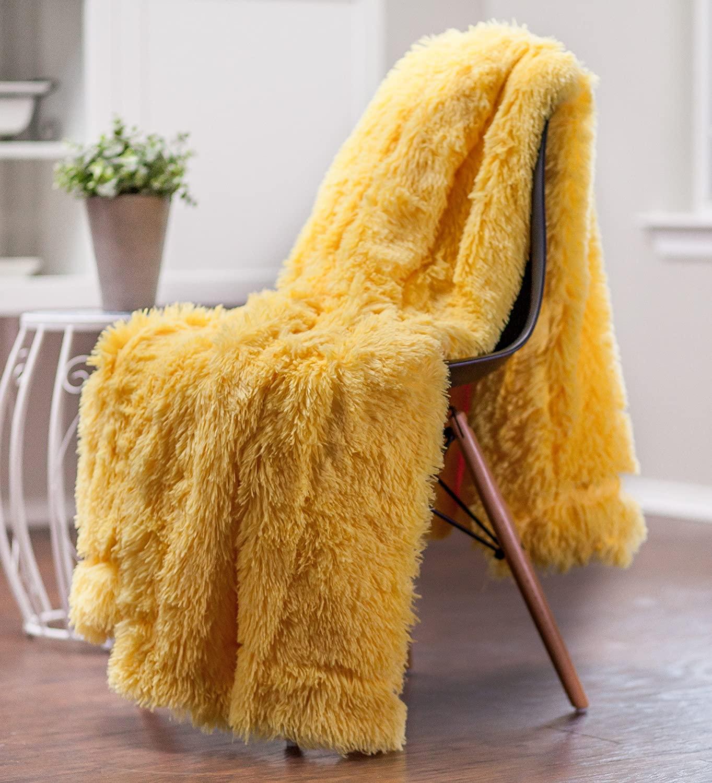 Long Fur Throw Blanket
