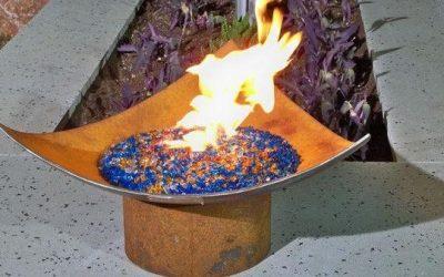 Sculptural Fire Bowls for House Backyard Décor