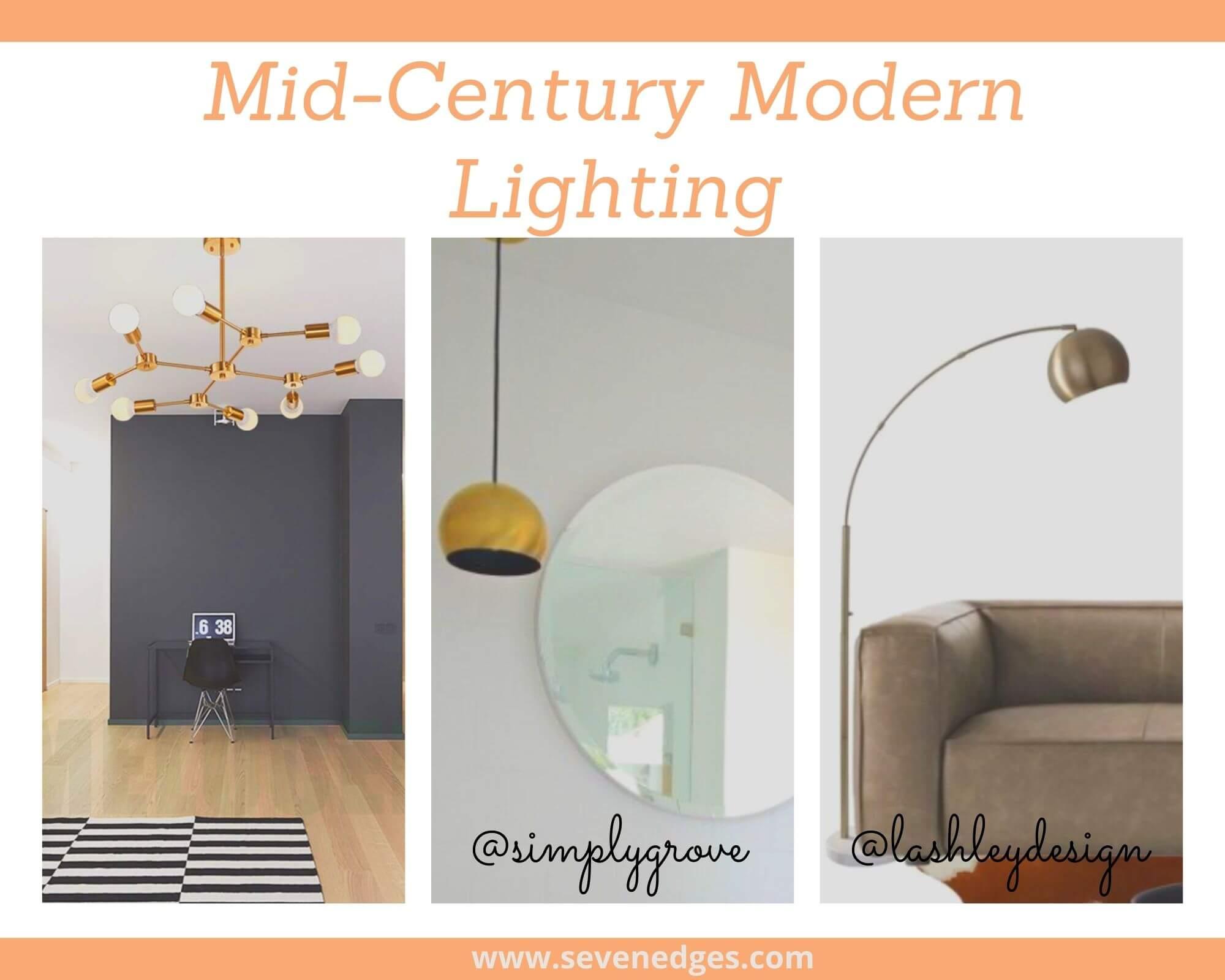 mid-century modern Lighting