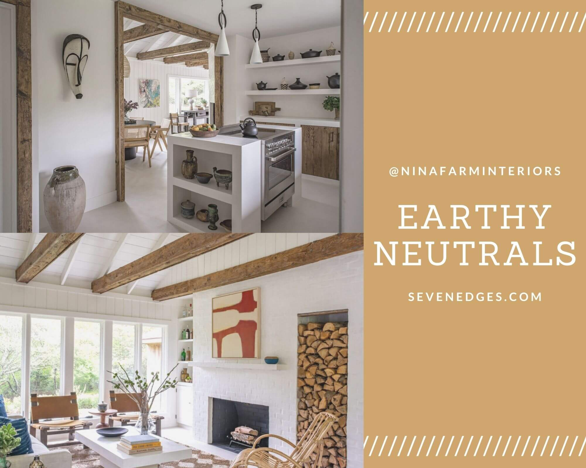Earthy Neutrals from NinaFarmInteriors
