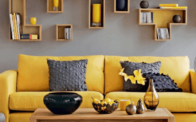 Try Grey and Yellow Living Room Combinations