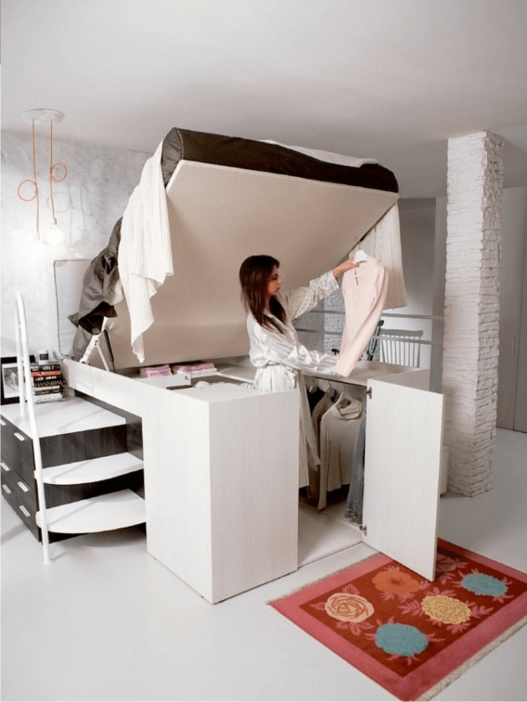 Clothing storage for small spaces