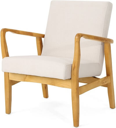 Mid Century Modern Fabric Arm Chair