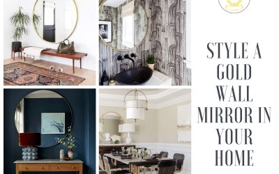 3 Ways to Style a Gold Wall Mirror in Your Room