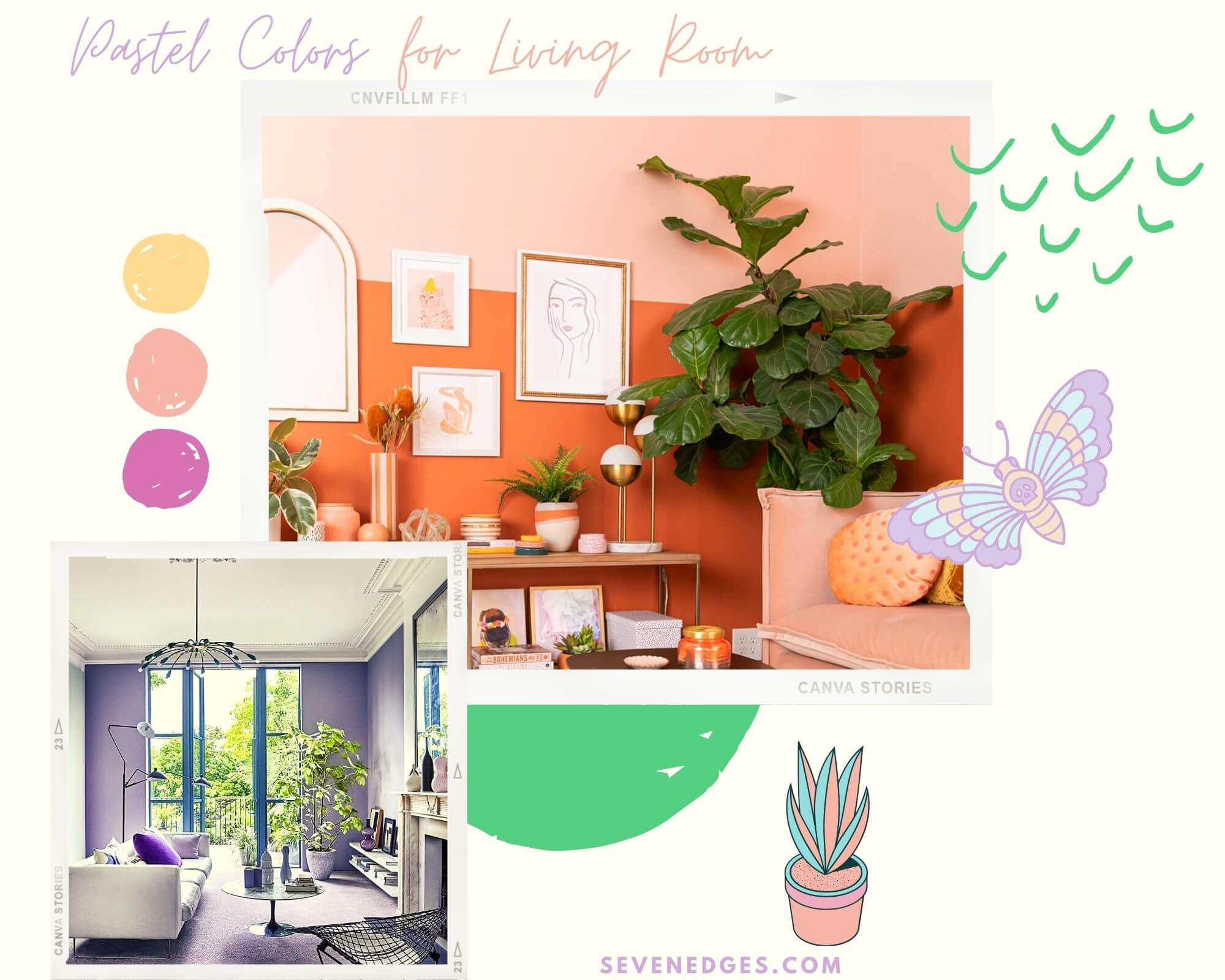 Pastel Colors for Living Room
