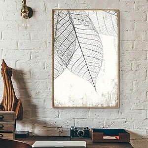 Translucent Leaves Framed Wall Art