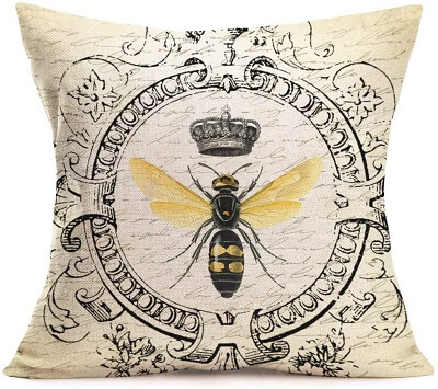 Vintage French Throw Pillow Covers