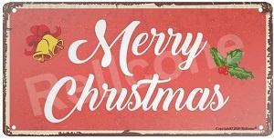 Merry Christmas Retro Vintage Metal Tin