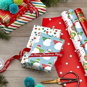 Reversible Christmas Wrapping Paper for Kids