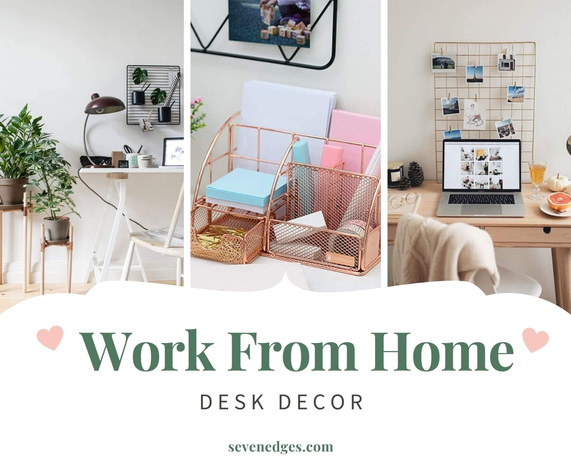 Work from home desk décor